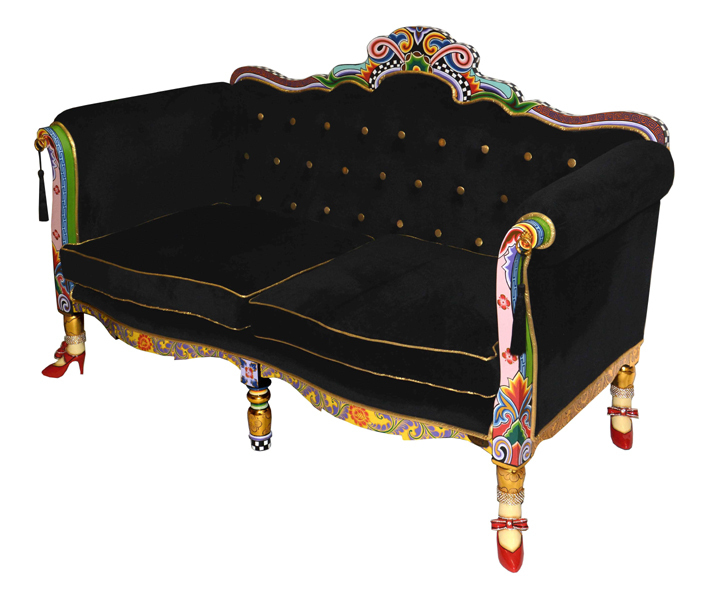 "Sofa ""Black Versailles"" - Tom's Drag"
