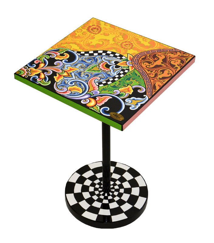 Side table floral-colorful - Tom's Drag