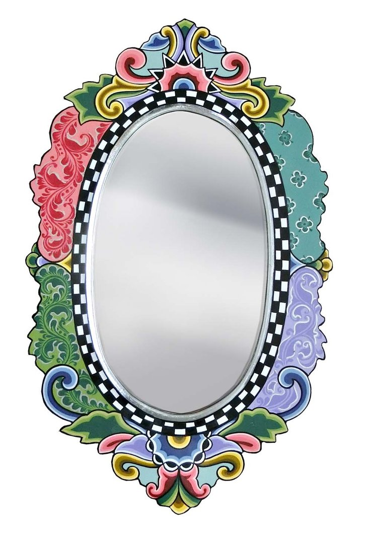 "Mirror ""Versailles"" oval Silver Line - Tom's Drag"